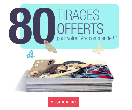 80 tirages offerts*