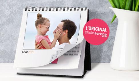 Calendrier de bureau luxe personnaliser avec vos photos en ligne - Calendrier photo de bureau ...